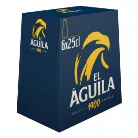 Cerveza El Aguila pack de 6 botellas de 25 cl.
