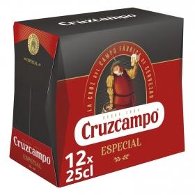 Cerveza Especial Cruzcampo pack de 12 botellas de 25 cl.