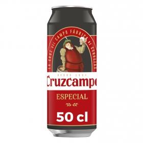 Cerveza Especial Cruzcampo lata 50 cl.