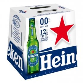 Cerveza Heineken Lager 0,0 sin alcohol pack de 12 botellas de 25 cl.