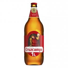 Cerveza Cruzcampo Pilsen botella 1 l.