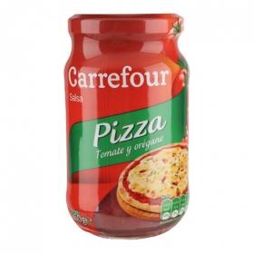 Salsa para pizza al orégano Carrefour tarro 260 g.