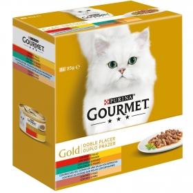 Purina Gourmet Gold Comida Húmeda para Gato Doble Placer Surtido 8x85g