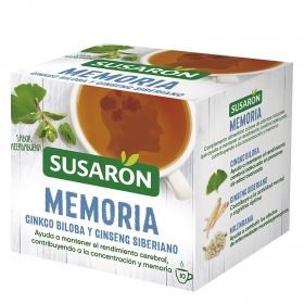 Infusión memoria gingko biloba  y ginseng siberiano sabor hierbabuena
