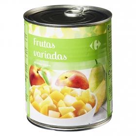 Macedonia de frutas en almibar ligero Carrefour 480 g.