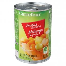 Frutas variadas en almíbar ligero Carrefour 420 g.