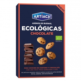 Galletas mini cookies ecológicas con centeno y chocolate negro