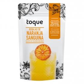 Rodajas de naranja sanguina deshidratada Toque 25 g.