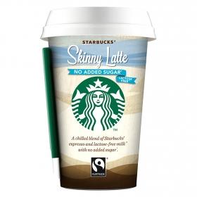 Café skinny latte Starbucks sin lactosa sin azúcares añadidos 220 g.