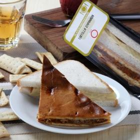 Sandwich de tortilla y empanada