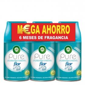 Ambientador automático recambio Pure Flor Air Wick 3 ud.