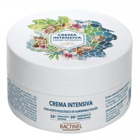 Crema corporal con aceite ecológico de almendras dulces Bactinel 185 g.