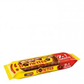 Bollito recubierto de chocolate Donettes 7+1 ud.