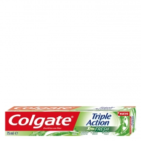 Dentífrico xtra fresh triple acción Colgate 75 ml.