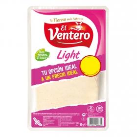 Queso tierno light en lonchas El Ventero sin gluten 80 g.