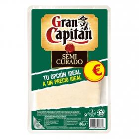 Queso semicurado en lonchas Gran Capitán 80 g.