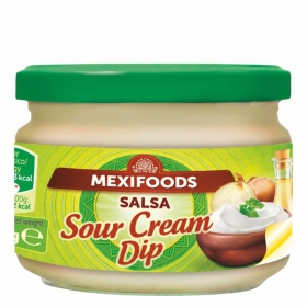 Salsa sour cream Mexifoods tarro 240 g.