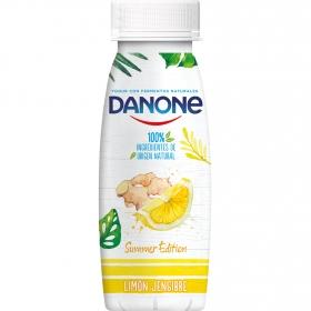 Yogur líquido de limón y jengibre Danone 245 g.