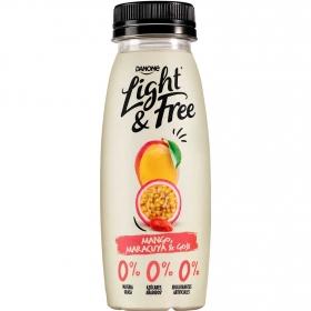 Yogur desnatado líquido de mango, maracuyá y goyi Danone Light&Free 245 g.