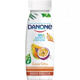 Yogur líquido de papaya y maracuyá Danone 245 g.