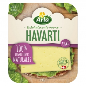 Queso havarti light en lonchas Arla 150 g.