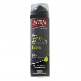 Gel de afeitar para piel sensible Triple Acción La Toja 200 ml.