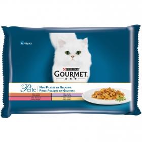 Comida para gatos Finas Láminas en Gelatina Surtido