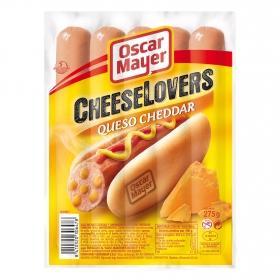Salchichas con queso cheddar Cheeselovers Oscar Mayer sin gluten 275 g.
