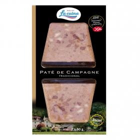 Paté campagne La Cuina sin gluten pack de 2 unidades de 50 g.