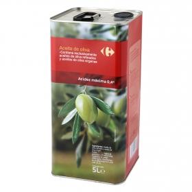 Aceite de oliva suave 0,4º Carrefour lata 5 l.