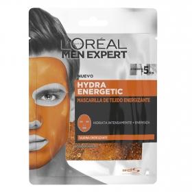 Mascarilla de tejido energizante Men Expert L'Oréal 1 ud.