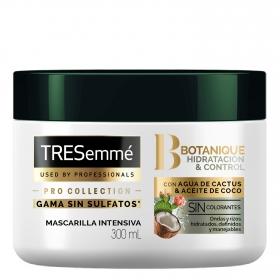 Mascarilla con agua de cactus y aceite de coco Tresemmé 300 ml.