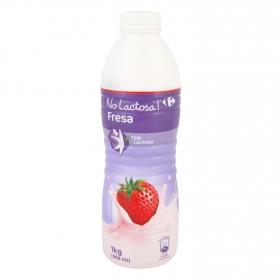 Yogur líquido de fresa Carrefour No Lactosa 1 kg.