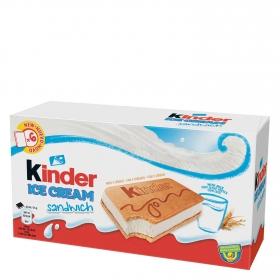 Sandwich de nata con leche y cereales Kinder 6 ud.