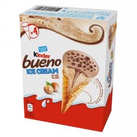 Conos con helado de avellanas Kinder Bueno 4 ud.