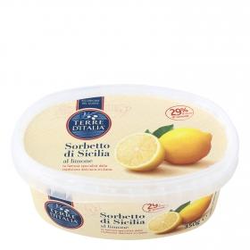 Helado sorbete de limón Terre d'Italia 350 g.