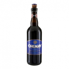 Cerveza Chimay Azul belga gran reserva trapense botella 75 cl.