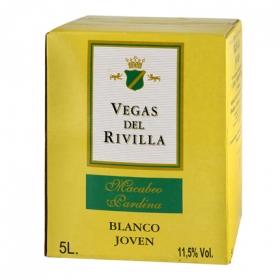Vino de mesa blanco Vegas del Rivilla 5 l.
