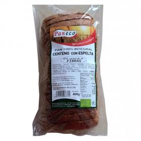 Pan integral de centeno con espelta alto en fibra ecológico Paneco 400 g.