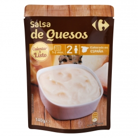 Salsa de quesos Carrefour sobre 140 g.