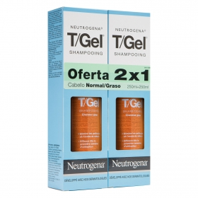 Champú t/gel cabello normal/graso Neutrogena pack de 2 unidades de 250 ml.