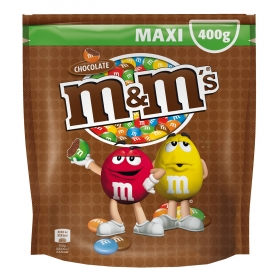 Grageas de chocolate con leche m&m's 400 g.