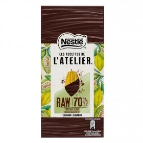 Chocolate negro 70% Ecuador Nestlé L'atelier 95 g.