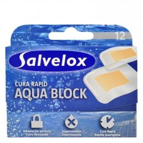 Tiras adhesivas Aqua Block Salvelox 12 ud.