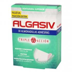 Almohadillas adhesivas para dentadura superior