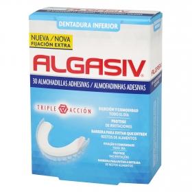 Almohadillas adhesivas para dentadura inferior