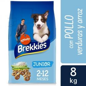 Brekkies Pienso para Perros  junior pollo y arroz 8 kg