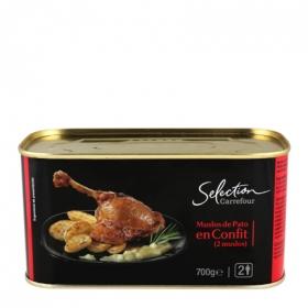 Muslos de pato en confit Carrefour Selección sin gluten 700 g.