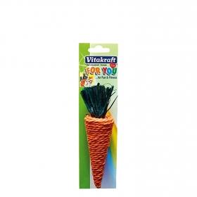 Zanahoria con Paja de Sisal para Roedores