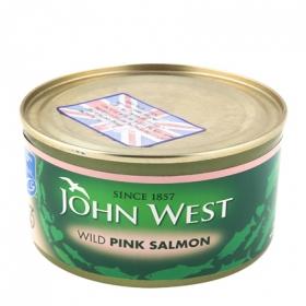 Salmon rosado John West 213 g.